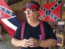 Bob Castello, owner of the Dixie General Store, talks during an interview in Chulafinnee, Ala.