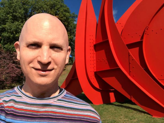 The author at Storm King Arts Center.