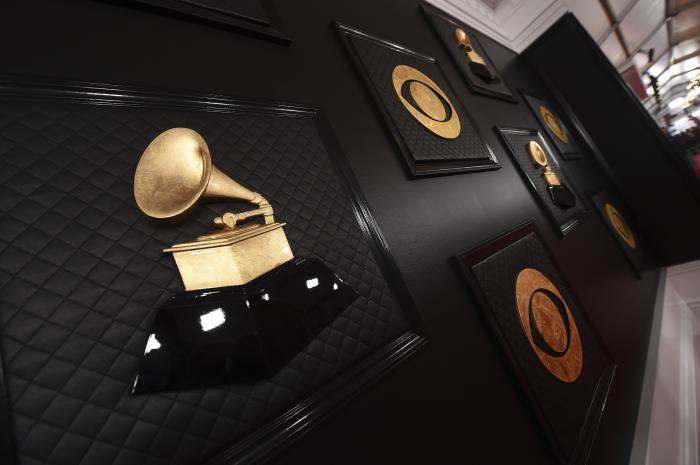 The red carpet appears prior to the start of the 62nd annual Grammy Awards in Los Angeles on Jan. 26, 2020.