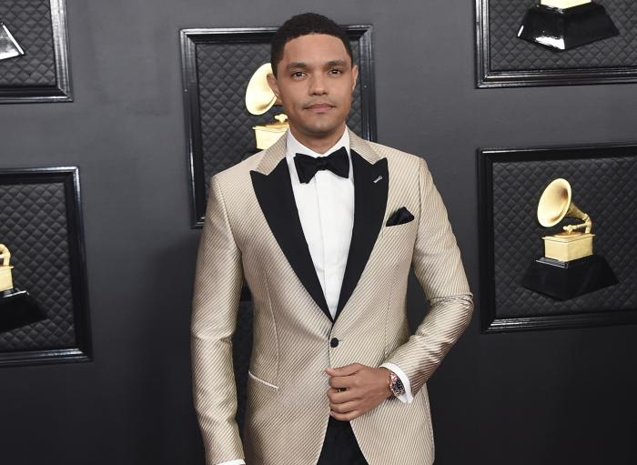 Trevor Noah arrives at the 62nd annual Grammy Awards.