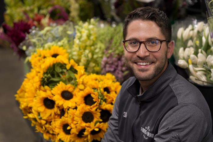 Steven Dyme, owner of Flowers for Dreams, poses for a portrait at his warehouse Friday, July 23, 2021, in Chicago.